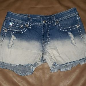 Miss Me ombre jean shorts